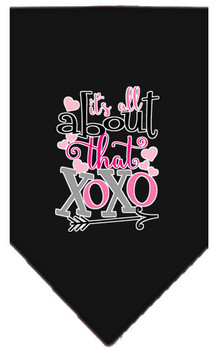 All About That Xoxo Screen Print Bandana - Black