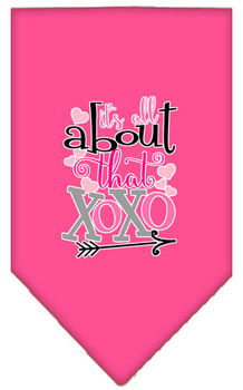 All About That Xoxo Screen Print Bandana - Bright Pink