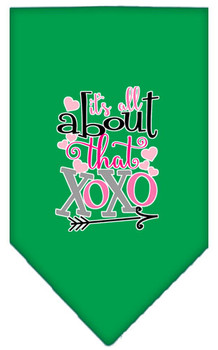 All About That Xoxo Screen Print Bandana - Emerald Green