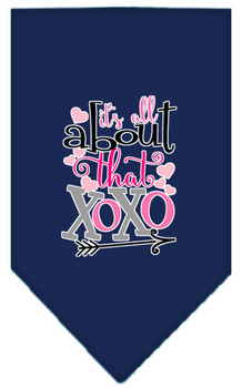 All About That Xoxo Screen Print Bandana - Navy Blue