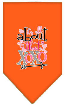 All About That Xoxo Screen Print Bandana - Orange