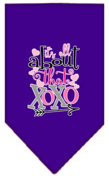 All About That Xoxo Screen Print Bandana - Purple