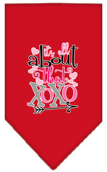 All About That Xoxo Screen Print Bandana - Red