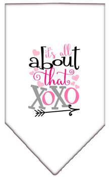 All About That Xoxo Screen Print Bandana - White