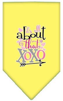 All About That Xoxo Screen Print Bandana - Yellow