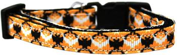 Bat Argyle Nylon Dog & Cat Collar
