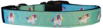 Aqua Unicorns Nylon Dog & Cat Collar