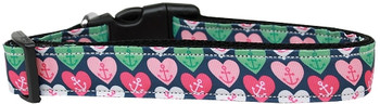 Anchor Candy Hearts Nylon Dog & Cat Collar