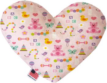 Baby Girl Heart Dog Toy, 2 Sizes