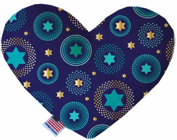 Blue Star Of David Heart Dog Toy, 2 Sizes