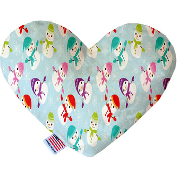 Colorful Frosty Heart Dog Toy, 2 Sizes