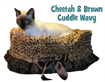 Cheetah Reversible Snuggle Bugs Pet Bed, Bag, And Car Seat In One