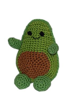 Knit Knacks Avocado Organic Cotton Small Dog Toy