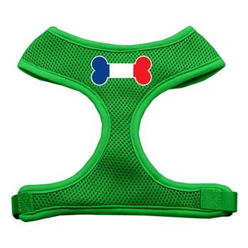 Bone Flag France Screen Print Soft Mesh Pet Harness - Emerald Green