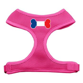 Bone Flag France Screen Print Soft Mesh Pet Harness - Pink