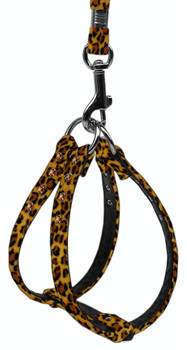Animal Print Step In Harness - Leopard