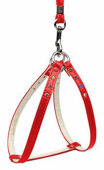 Confetti Step In Harness - Red