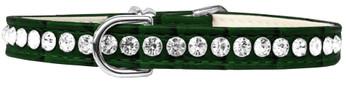 Beverly Style Rhinestone Designer Croc Dog Collar - Emerald Green