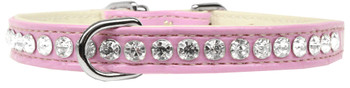 Beverly Style Rhinestone Designer Croc Dog Collar - Light Pink