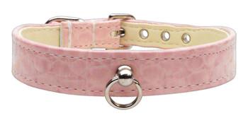 Faux Snake Skin #70 Dog Collar - Pink
