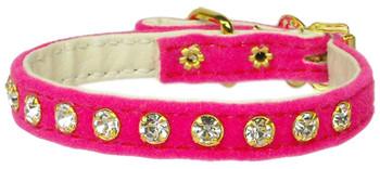 Velvet #10 Dog Collar - Pink - Tiny Pets