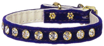 Velvet #10 Dog Collar - Purple - Tiny Pets