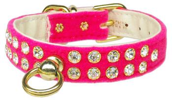 Velvet #31 Dog Collar - Pink - Tiny Pets