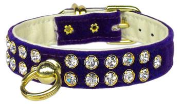 Velvet #31 Dog Collar - Purple - Tiny Pets