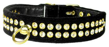 Velvet #72 Dog Collar - Black