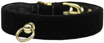 Velvet #70 Dog Collar - Black