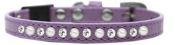 Pearl And Clear Jewel Breakaway Cat Collar - Lavender