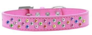 Sprinkles Dog Collar Confetti Crystals - Bright Pink