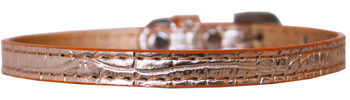 Omaha Plain Croc Dog Collar - Copper