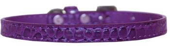 Omaha Plain Croc Dog Collar - Purple