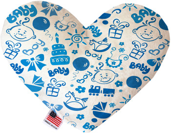 Baby Boy Canvas Heart Dog Toy, 2 Sizes