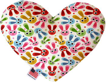 Funny Bunnies Canvas Heart Dog Toy, 2 Sizes