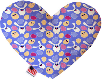 Chicks And Bunnies Canvas Heart Dog Toy, 2 Sizes