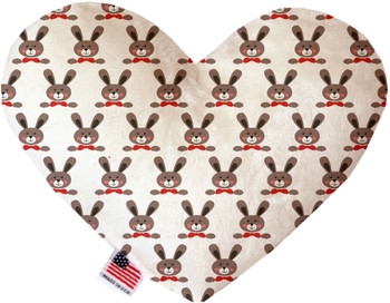 Dapper Rabbits Canvas Heart Dog Toy, 2 Sizes