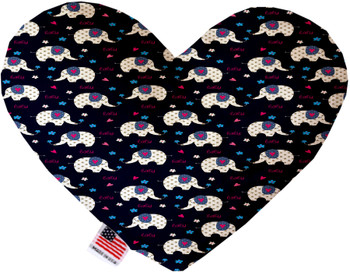 Baby Elephants Canvas Heart Dog Toy, 2 Sizes