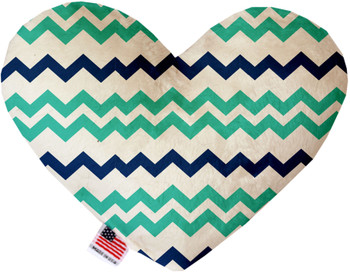 Aquatic Chevron Canvas Heart Dog Toy, 2 Sizes