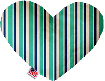 Aquatic Stripes Canvas Heart Dog Toy, 2 Sizes