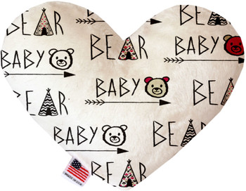 Baby Bear 6 Inch Canvas Heart Dog Toy