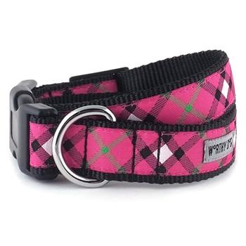 Bias Plaid Hot Pink Pet Dog & Cat Collar & Lead Collection