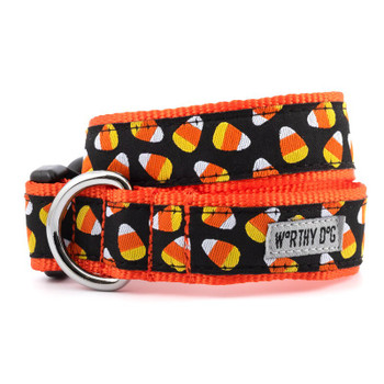 Candy Corn Pet Dog Collar & Lead Collection