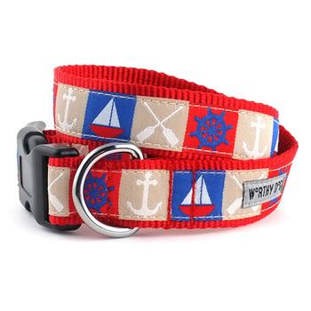 Ahoy Pet Dog Collar &  optional Leash