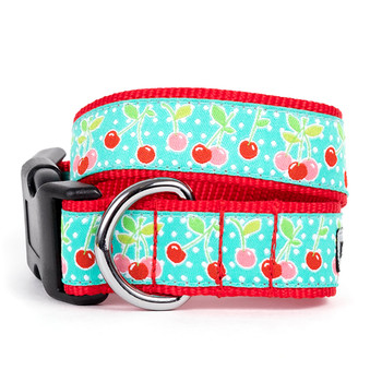 Cherries Pet Dog Collar & Lead
