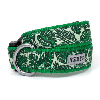 Tropical Leaves Pet Dog Collar & Lead