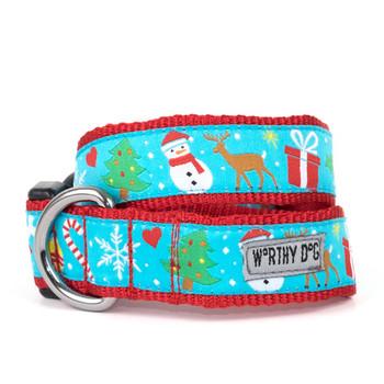Winter Wonderland Pet Dog Collar & Lead