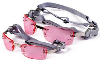 Pink K9 Optix Rimless with Rhinestones Lens