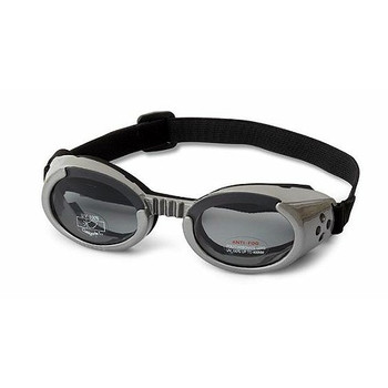 Gunmetal Gray ILS Doggles with Light Smoke Lens Dog Sunglasses